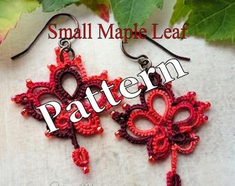 "Tatting Pattern ""Small Maple Leaf"" PDF Instant Download"