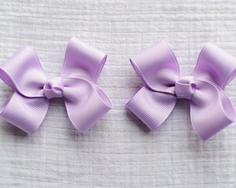 Lavender Hair Bows,Pigtail Hair Bows,Toddler Hair Bows,Solid Colored Hair Bows,3 Inch Hair Bows,Birthday Party Favors