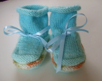 Handknit Baby Booties and Why I Made Them - Spring Rain