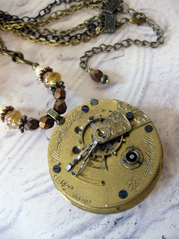 Antique pocketwatch necklace