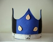 SALE Wool Felt Crown - Boy at Fence
