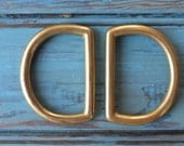 Solid brass D-rings - set of two
