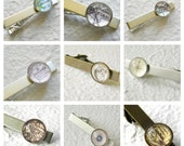 Custom Map Tie Clip - Choose Your Location Tie Bar - Great gift for Fathers Day and wedding