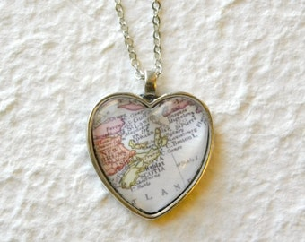 Nova Scotia Map Necklace - Nova Scotia, Canada featuring Halifax, Cape Breton, Prince Edward Island and more