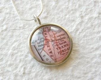 Palestine Map Necklace