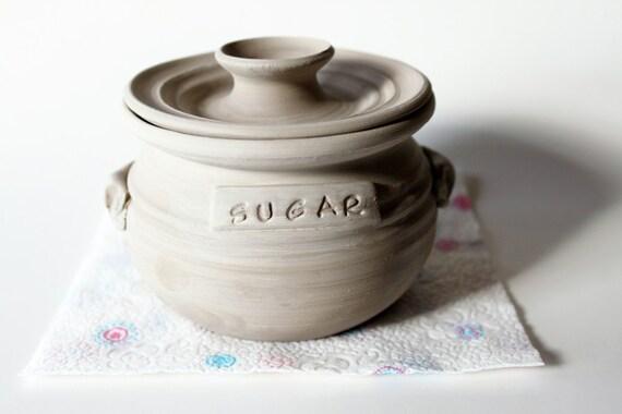 RESERVED for peekkaboo - Decorative Sugar Jar in Colorful Glazes