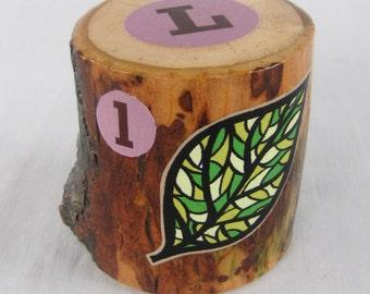SEVEN Woodland Name Blocks - Personalized Set of Alphabet blocks - OOAK
