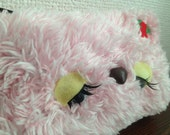 Whimsical Furry Sleepy Ugly Cute Face Strawberry Purse OOAK