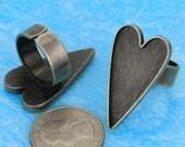 10pcs  antique silver  10pcs silver tone