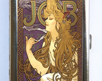 JOB Art Nouveau Goddess Cigarette Case id case Wallet Business Card Holder