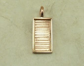 Small Rectangular Pendant Bezel Blank for Photo Jewelry, Mixed Media, Ephemera and Assemblage - Solid Copper