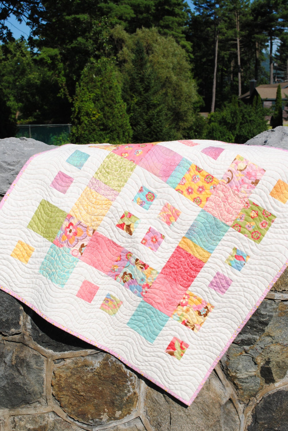 Baby Girl Quilt Patchwork Handmade Quilt Pattern Also For