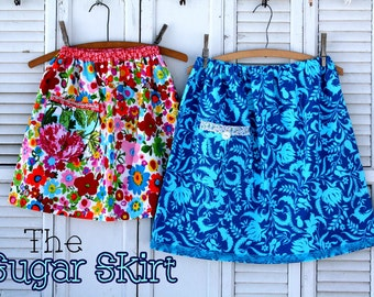Instant Download The SUGAR Skirt DIY Tutorial PDF Pattern Ebook Sizes 12 months to 12 14 Youth and Women