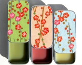 Kissa Lip Balm in Keepsake Gift Tin - Natural Handcrafted and Vegan Friendly. Choice of 3 Flavors. Cherry Blossoms