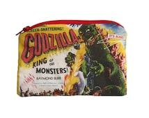 Godzilla - Vintage Horror Monster - Zipper Pouch