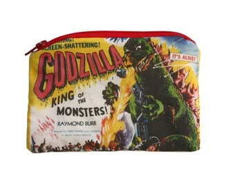 Godzilla - Vintage Horror Monster - Zipper Pouch
