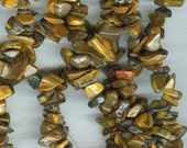 Shades of Brown Tiger's  Eye Chip Beads 35in Strand