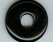 35mm Black Onyx PI Donut Pendant Bead