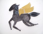 Build Your Own Mini Horse Articulated Decoration / Hinged Beasts Series - benconservato