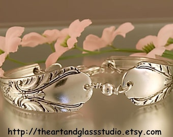 Silver Spoon Bracelet AVALON Jewelry Vintage, Silverware, Gift, Anniversary, Wedding, Birthday
