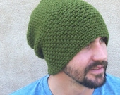 The Link Slouch Beanie in Olive - Gamer Gift, Cosplay, Legend of Zelda Role Play, For Men, Army Green