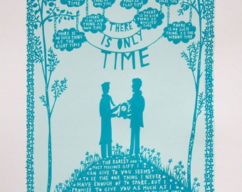 There Is Only Time, Valentine's Day Screen Print (Man/Man)