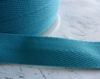 Turquoise Blue Twill Tape approx 3/4  inch wide