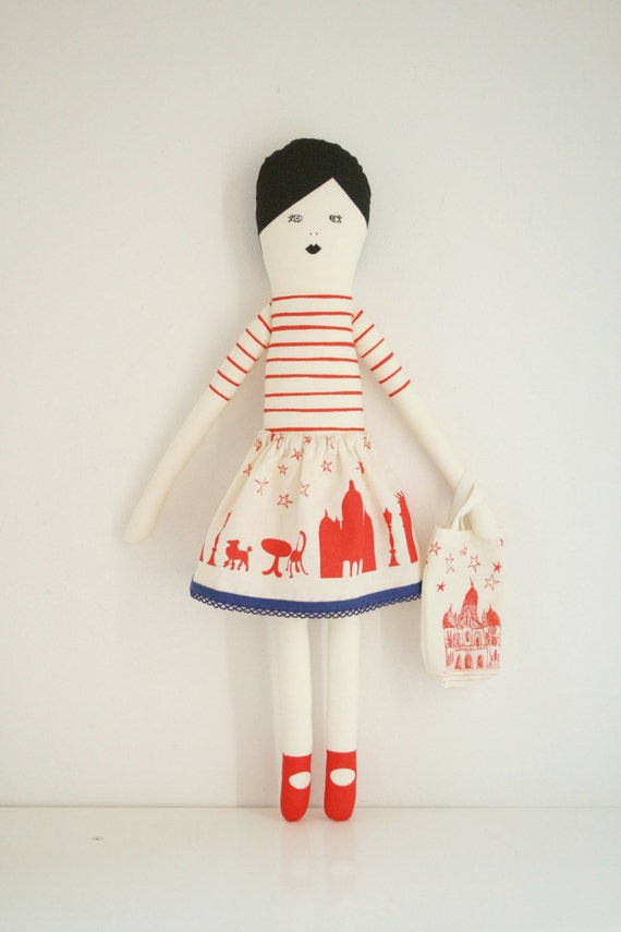 I love Paris doll red