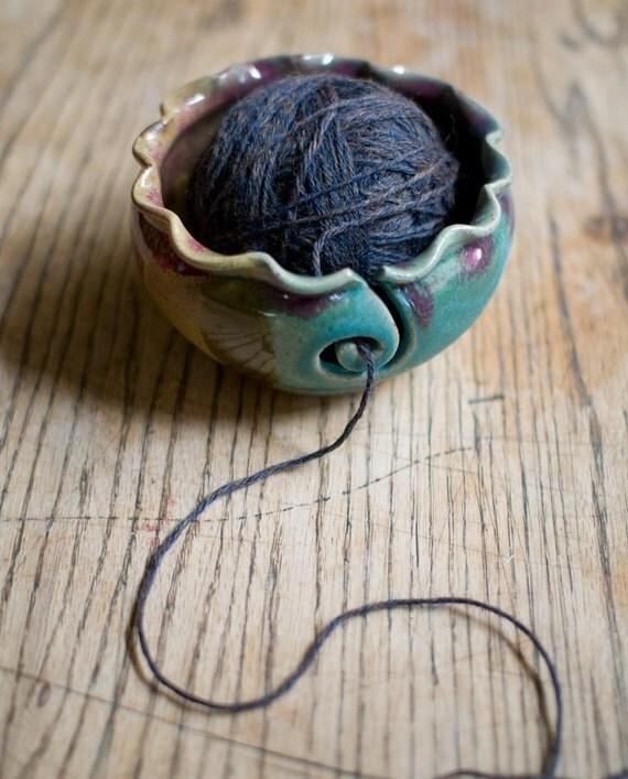 Custom order for Denice Yarn bowl, Knitting bowl,  seen in Knit Simple Magazine