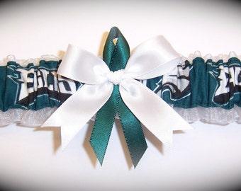 Philadelphia Eagles Wedding Garter    Handmade  Toss   Bridal wh1