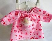 candy pink, doll dress, for Waldorf dolls, germandolls, with Pocket doll, Steiner doll, Waldorf toy