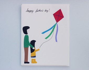 Happy Father's Day - kite flying collage card