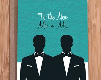 gay wedding card / mr. and mr.