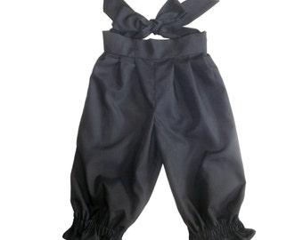 Pantaloons Black Knee Length with Ties 3T 24USD