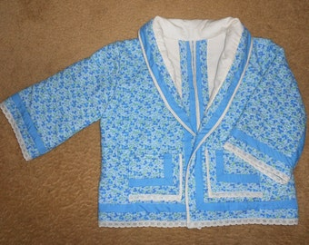 Bed Jacket Lounge Jacket Vintage Style Reproduction Woman's 1 size up to 14