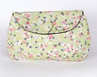 Pale Green blossom clutch purse