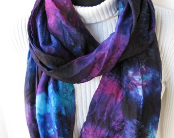 Scarf for Women Hand Dyed Silk Scarf Brazilnut Infinity Scarf Cowl scarf silk scarf boho spring fashion womens scarves handmade unique gift