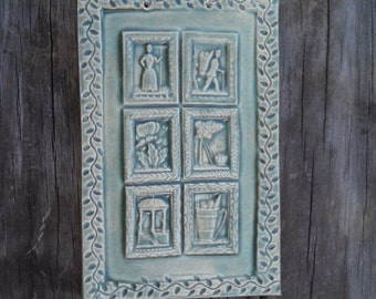 The Gardening Tile in Sage Green