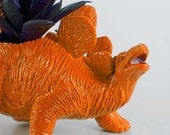 Dinosaur Planter Orange for Succulent Plants and Small Cacti