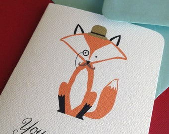 You Are Fancy- Fox single greeting card