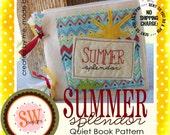 New: PATTERN for Summer Splendor quiet/activity book - digital .PDF download