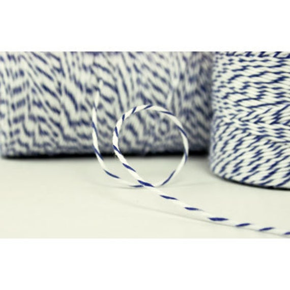 Blueberry Bakers Twine - Blue White
