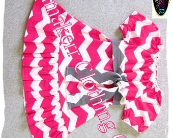 Girl Pink Dress Custom Boutique Peasant EASTER Spring Chevron Baby 1st Birthday Gift Clothing  3 6 9 12 18 24 month size 2T 3T 4T 5T 6 7 8