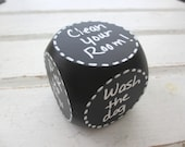 Rolling for Chores - Kids Chalkboard Chore Die