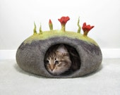 Felted Cat Bed TUTORIAL / Cat Cave Pattern. Instant PDF Download. Wet Felting Technique.