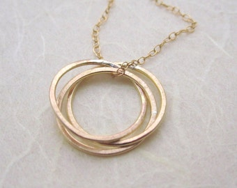 Nest Necklace -  handcrafted 14k gold fill jewellery