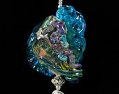 Glass Lampwork Beads- Sea Horse Focal Pendant by Patsy Evins