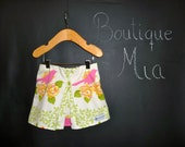 SAMPLE - Children Skirt - Birds - Will fit Size 6-12 month up to 12-24 month - by Boutique Mia and More - Ready To Ship