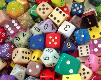 One Dozen / Dice / Altered Art / Assemblage Art / Gameplay / Variety of Shapes-Sizes and Colors