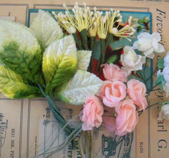 Items Similar To Vintage Wedding Cake Topper Add On Kit Do It Yourself Floral Components